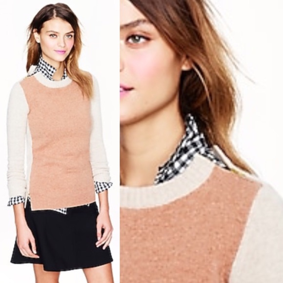 J. Crew Sweaters - JCrew Double-zip sweater in colorblock